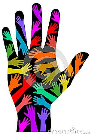 Diversity Rainbow Hand/eps