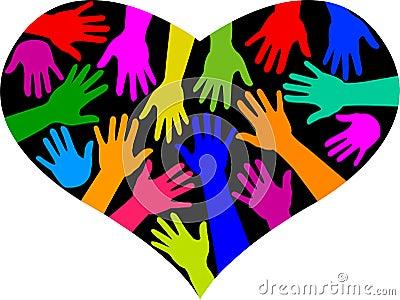 Diversity Rainbow Heart