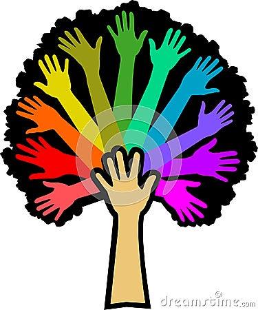 Free Diversity Rainbow Tree/eps Royalty Free Stock Photo - 9010805