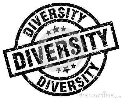 diversity stamp Vector Illustration