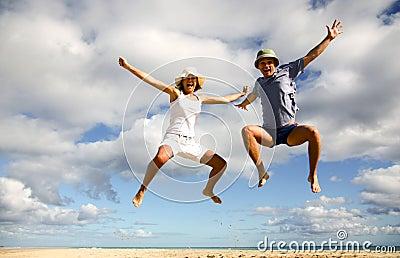 Divertimento sulla spiaggia, come il livello è amore