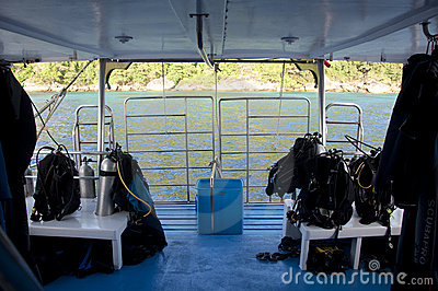 Diving deck on a liveboard boat