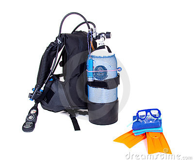Diving equipment isolated