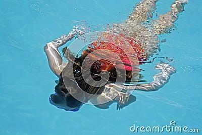 Diving girl