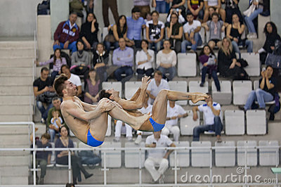 Diving Italian indoor championships Editorial Photography