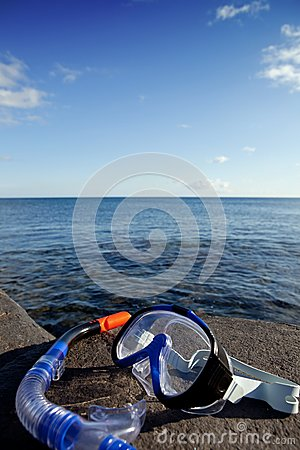 Diving mask and snorkel