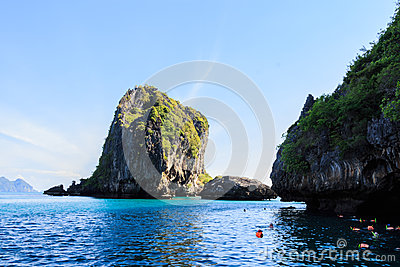 Diving in sea at Trang ,Thailand