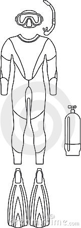 Diving-suit (vector)