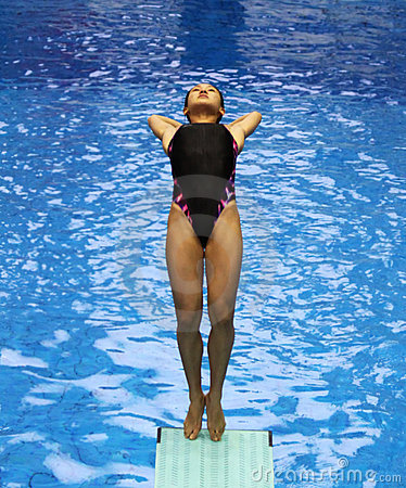 Diving women 02 Editorial Stock Image