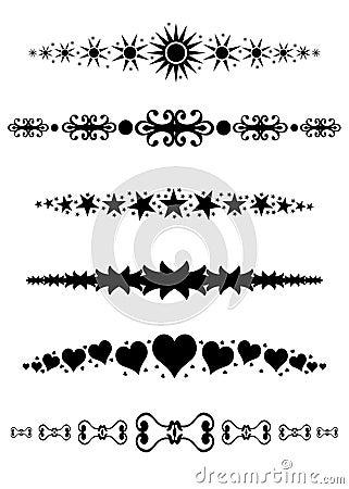 Divisori decorativi dei bordi dei blocchi per grafici for Bordi decorativi