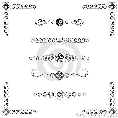 Divisori del testo di stile del damasco