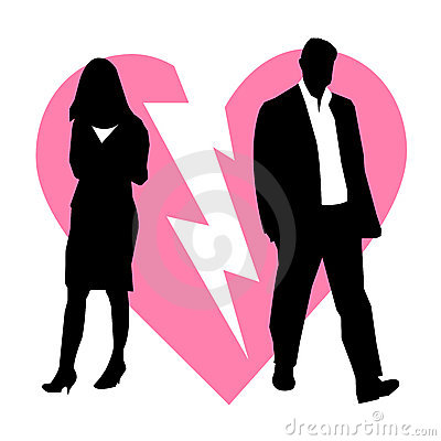 Divorce broken couple background