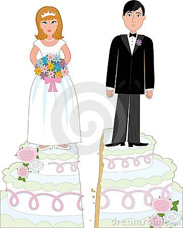 Free Divorce Cake Royalty Free Stock Photography - 4404277