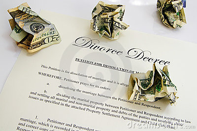 Divorce decree and cash