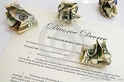 Divorce decree and cash