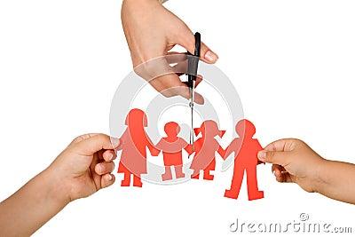 Divorce effect on kids concept