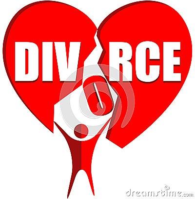 Divorce Logo Stock Vector - Image: 47053851