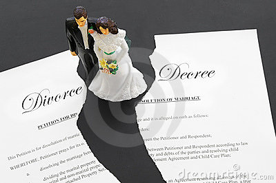 Divorce split
