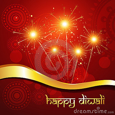 美好的印度diwali节日艺术