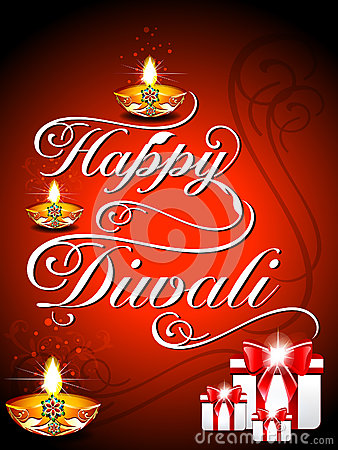 Diwali Background with fonts