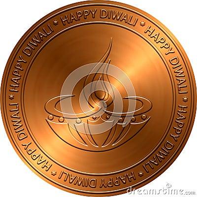 Diwali Copper Embossed Design