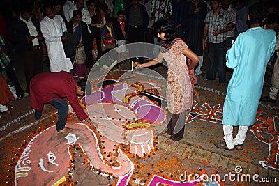 Diwali Festival Celebrations Editorial Image