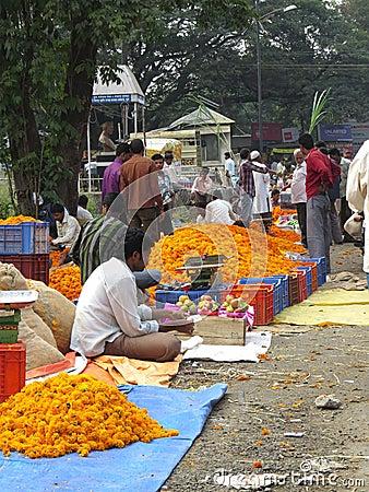 Diwali Flowers Editorial Stock Photo
