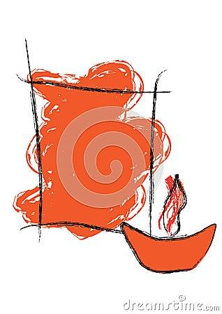 Diwali greeting - vector