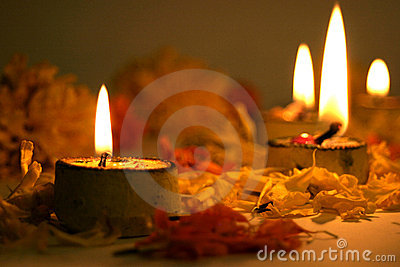Diwali Lamps, traditionally Indian