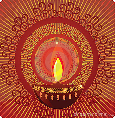 Diwali Oil Lamps With Mandala Design