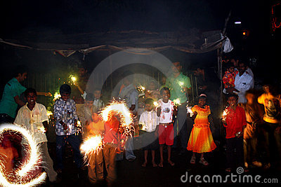 Diwali in Poverty Editorial Image