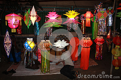 Diwali Street Shop Editorial Stock Image