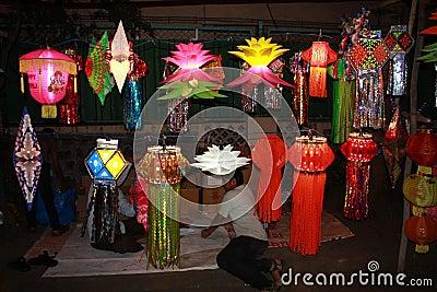 Diwali Street Shop Editorial Stock Image