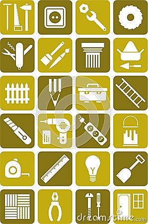 DIY用工具加工图标