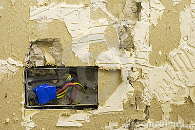 DIY electrical socket and plasterwork