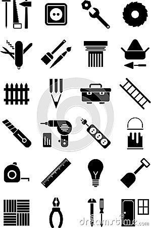 DIY hulpmiddelenpictogrammen