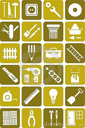 DIY utiliza ferramentas ícones