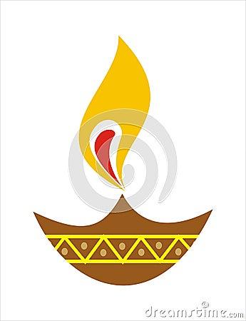 Diya [Earthen Lamp] Royalty Free Stock Photography - Image: 3349017