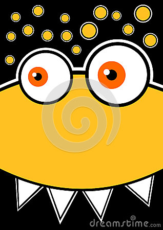 Dizzy Yellow Monster Party Invitation Card