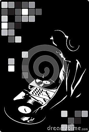 DJ in black