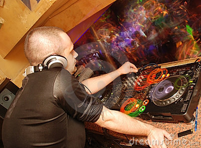 Dj in club