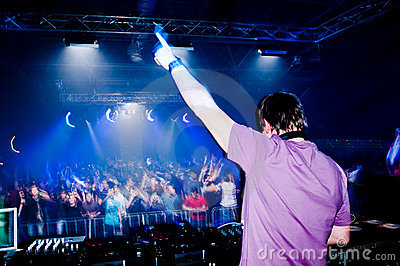 Dj at the concert