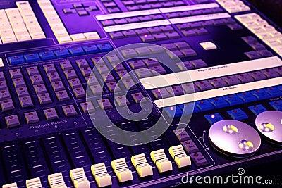 DJ control panel - music mixer