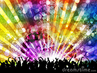 DJ disco party night Stock Photo