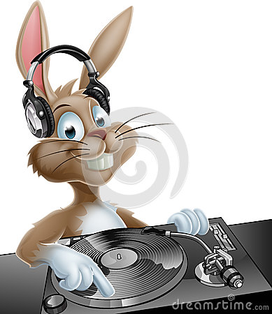 Dj Easter Bunny Stock Vector Image 49790843