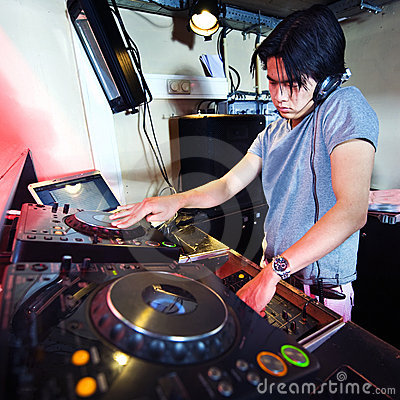 Free DJ In The Mix Royalty Free Stock Photo - 13086335
