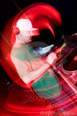 Free DJ In The Nightclub Royalty Free Stock Images - 13573759