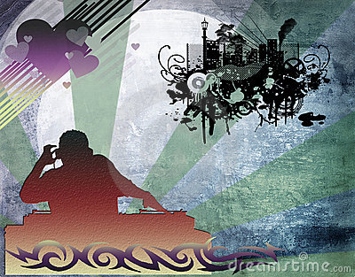 Dj man playing tunes with music