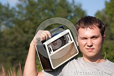Dj man with radio