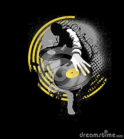 Free Dj Mix - Yellow And Black Stock Photo - 5563170